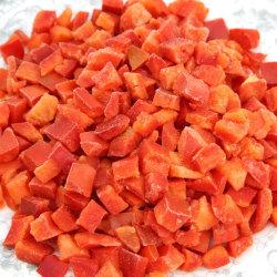 Перерабатывающий завод, Shandong Fangxin Food, IQF замороженные красные перцы, замороженные овощи, замороженные продукты питания