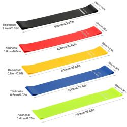 Eco Friendly Cotton Polyester Rubber Gym oefening Sport Legging Spier Training Fabric Tight Resistance Latex Bands Yoga Home Fitness op maat Logo afdrukken