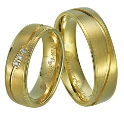 Chapado en oro 18K de los Anillos de titanio para par Universary Don