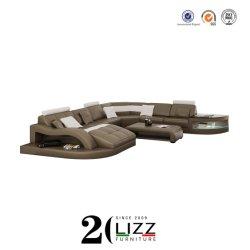 Нет MOQ поощрения Домашняя мебель холл вид в разрезе кожаные LED диван,