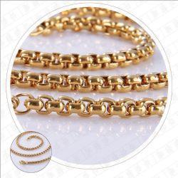 Monili Chain di modo di Belcher del quadrato della catena della collana dell'acciaio inossidabile