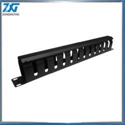 1u de acero de espesamiento de los armarios rack 19' del organizador de la red de cable de 12 puertos 2pcs/Lot