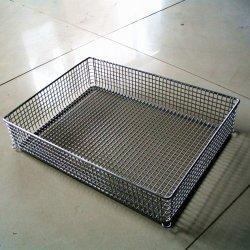 O metal mostrando a cesta para Supermercado