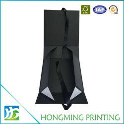 Noir mat carton coffret à bijoux de pliage de papier