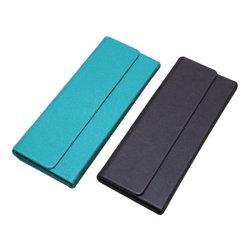 ロゴのサングラスの箱のEyewearの贅沢なFoldableハンドメイドのカスタムケース