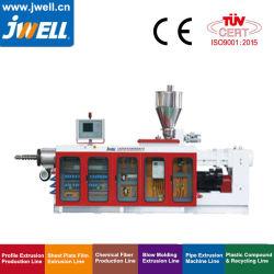 Perfil de PVC Jwell tubo//folha Extrusor Twin-Screw paralela do contador