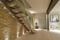 Registro personalizado privado minimalista y elegante escalera recta de flotación de la decoración del hogar