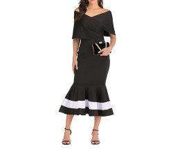 Производство партии вечер полиэстер Дамы платье Bodycon для женщин