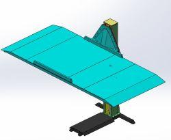Nieuwe Design Space Saving Single Post Parking Lift