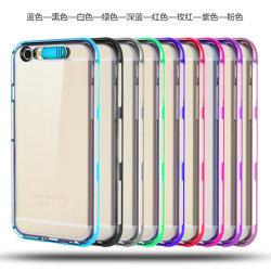 Bunter überzogener Kasten des Aufruf-Blitz-TPU für iPhone 6