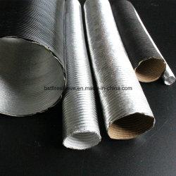 알루미늄 섬유 유리 보호 플렉시블 열 슬리브 실드 튜브 파이프