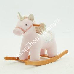 Labebe 장난감에 나무로 되는 흔들 목마 동물 Unicorn 탐