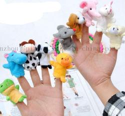 L'abitudine scherza il giocattolo animale del burattino della barretta della mano della peluche dei bambini
