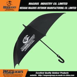 ガラス繊維のまっすぐな広告のゴルフ傘