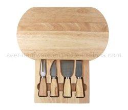 나무 보드가 있는 치즈 도구 나이프(SE-1314)