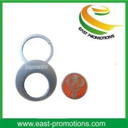 Titulaire de la chaîne de clé pièce de métal pour le shopping Trolley