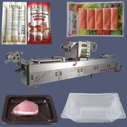 Gas-/Stickstoff-leerendes Nahrungsmittelvakuum/Karten-Verpackungsmaschine
