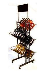 Affichage de fruits de rotation de la grille de fil enduire Grossiste en vins Cuisine Rack du vêtement