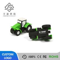 En PVC souple prix d'usine Pen Drive Don Logo personnalisé clé USB lecteur Flash USB de la forme de voiture