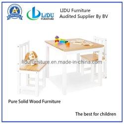 As crianças brincam Mesa com cadeira cadeira pré-escolar/Madeira/Estudo mesa e cadeiras/Table para crianças/Atividade para jogos de mesa
