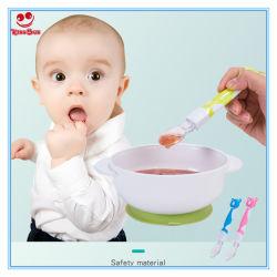 De nouveaux éléments bol de la coutellerie d'alimentation de bébé en silicone avec poignée de Cartoon Animal