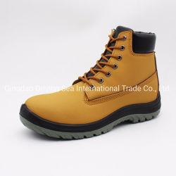 Semelle PU en cuir nubuck jaune de la construction des chaussures de sécurité/chaussures de sécurité/chaussures de travail