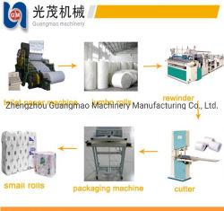 Du papier de toilette semi-automatique le rembobinage, perforation & machine à gaufrer