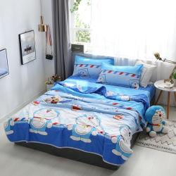 Home Textile microfibre 100% des feuilles imprimées le linge de lit en duvet défini