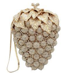 Sacchetto di cristallo di lusso del partito di sera delle 2020 del nuovo progettista della frutta dell'uva della frizione donne della borsa