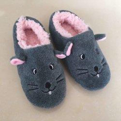 Moda niños Animal interior de poliéster personalizadas calzado zapatillas