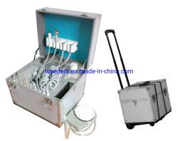 Dental Mobine portátil el suministro de aire de la unidad de la turbina con eyector de saliva