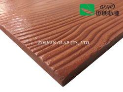 Placa de revestimiento de fibra de cemento de madera resistente al desgaste textura (silicato de calcio Panel)