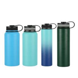 Wasser-Flaschen-Vakuumhydrokolben-Zoll-Firmenzeichen des im Freiensport-12/16/18/22/24/32/40/50/64oz