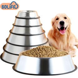 Amazon produit Pet standard en acier inoxydable d'alimentation de chien de compagnie bol