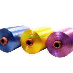 뜨개질을 하고 길쌈하는 기계를 위한 도매를 위해 밝은 염색되는 100% 비스코스 레이온 필라멘트 털실 120d/30f