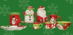 De ceramische Reeks van het Vaatwerk van het Ontwerp van de Sneeuwman (Kerstman)
