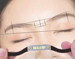 PMU Eyebrow أداة تخطيط الفقاعة آلة تصفيح التظليل الدقيقة المهنية Eybrow Mapping خيط لبراونيز ذو شكل مثالي