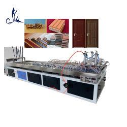 التصميم الخارجي لعمود شعاع قطري صغير من البلاستيك المصنوع من مادة PVC من الخشب PE الجدار التزيين الجدار ما بعد تصنيع آلات