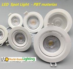 Escritório doméstico personalizados piscina pequena LED de iluminação para baixo CRI80 Barato preço candeeiro de tecto PBT Refletor LED embutido