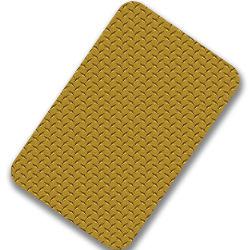 Top ventes 316 4x8 4X10 double finition couleur estampillée à damiers en acier inoxydable 304 feuilles pour l'étage et l'échelle
