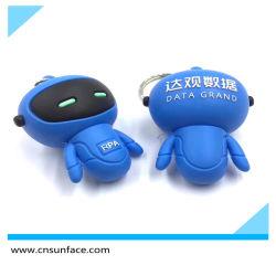 PVC 소프트 고무 로봇 USB 플래시 드라이브