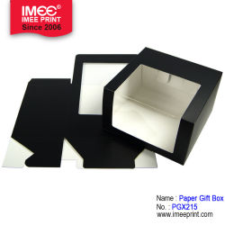 Imeeの明確なWindowsが付いているカスタム折るペーパーギフト用の箱の食糧ボックス卸売のボール紙のペーパークラフト紙ボックス