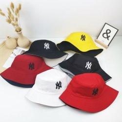 도매 패셔너블한 두 측면 코튼 트란 더블 사이드 웨어 여름 해트모자 여성용 NY 버킷 모자