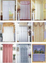 Вышивание шторки окна