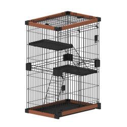 تحريك أفقي داخلي منزلق خشبي محمول خشبي محمول للكلاب و إمدادات Cat للحيوانات الأليفة