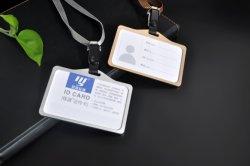 Aleación de aluminio empleado personalizado nuevo cuello soga titular de la tarjeta ID.