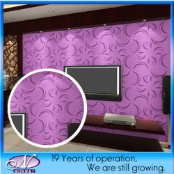 Akoestisch Insulation 3D pvc Panel voor Interior Wall Decorative