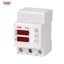 Yc9va DIN-Schiene-Leistungsmessgerät für digitale Spannung und Strom Überspannungsschutz Des Displayrelais