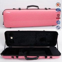 분홍색 탄소 섬유 장방형 바이올린 상자 (SVC005P) 빛