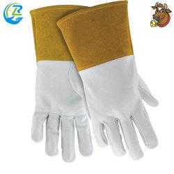 Cuoio di funzionamento dei guanti della saldatura resistente di sicurezza della prova di olio del cuoio di grano